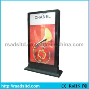 Outdoor Double-Faced Advertising Light Box Display with Scrolling pictures & photos