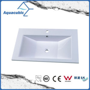 Good Quality Artificial Marble Bathroom Sinks Acb0804 pictures & photos