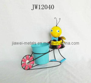 Flower Pot with Bee (JW12040)