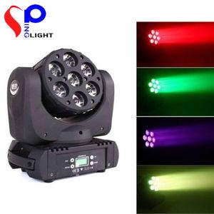 7PCS 12W RGBW LED Moving Head Light LED High Brightness Beam