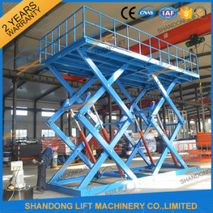 Heavy Duty Electric Scissor Hydraulic Heavy Car Lift with Ce pictures & photos
