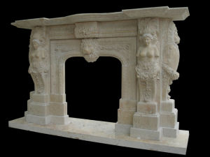 Limestone Statuary Fireplace (FRP346) pictures & photos