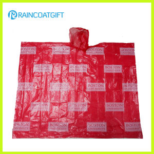 Logo Printed Disposable PE Poncho for Promotion pictures & photos