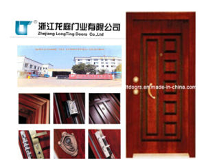 Tuikish Style Steel Wooden Armored Door pictures & photos