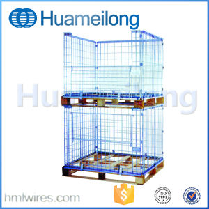 Collapsible Metal Wire Stacking Pallet Cage pictures & photos