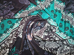 Bright Print Crepe De Chine Stretch Fabric pictures & photos