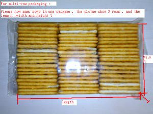 on Edge Packaging Machine for Cookies pictures & photos