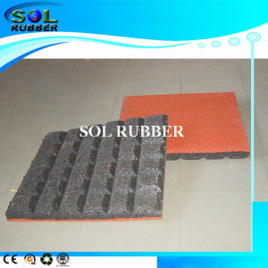 Fine Quality Outdoor Flooring Twine Rubber Tile pictures & photos