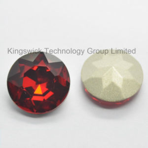 12 Mm Pointed Back Round Shape Siam Color Glass Bead pictures & photos