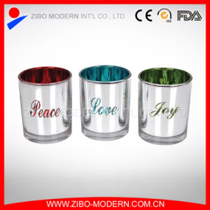 Nice Quality Decorative Electroplated Glass Candle Holder pictures & photos