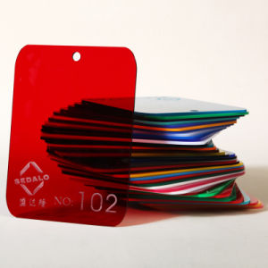 Translucent Red Cast Acrylic Sheet (SDL-102) pictures & photos