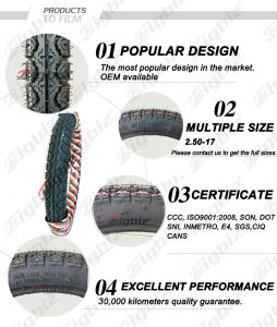Qingdao Top Brand Classic 90/90-17 Tubeless Motorcycle Tyres pictures & photos