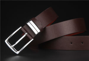 New Men′s Business Casual Leather Belt High Quality Pin Buckle pictures & photos