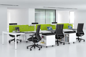 Fashion 6 Person Seats Straight Office Partition Workstation with Metal Leg (SZ-WS049) pictures & photos