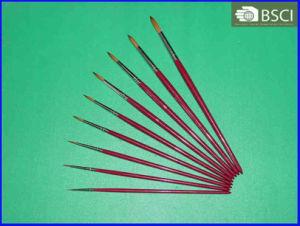 9PCS Wooden Handle Artist Brush Set (AB-066) pictures & photos