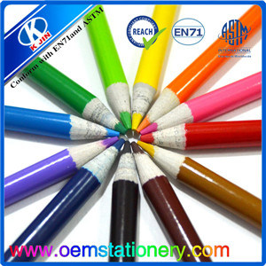 3.5 Inch 8.8*0.72cm Eco Friendly Mini Paper Color Pencil