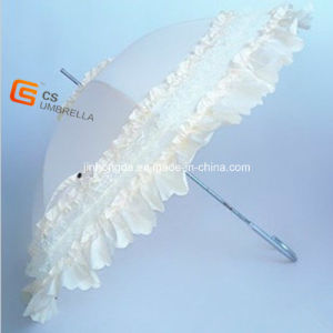 White Color Princess Lace Umbrella (YS-1019A)