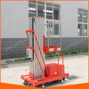 Electric Single Mast Portable Man Lift pictures & photos