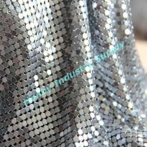 Silver Color 4mm Square Sequin Metal Sequin Cloth