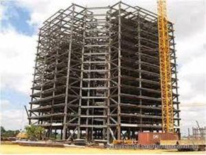 4 storeys steel frame construction prefab house