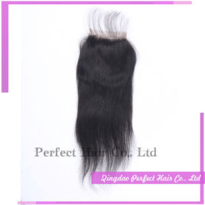 Unprocess Peruvian Brazilian Virgin Hair Closures pictures & photos