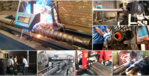 Factory Galvanized Helical Pole Anchor with Flange pictures & photos