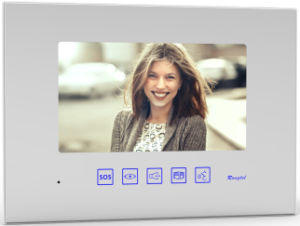 White 7 Inch Mirror Indoor Monitor for Villa Intercom System pictures & photos