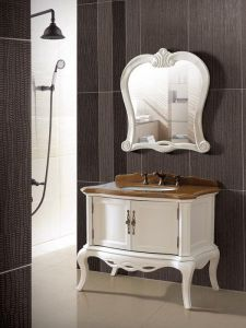 Solid Wood Bathroom Cabinet/Bathroom Vanity/Classical Bathroom Vanity (ADS-636) pictures & photos