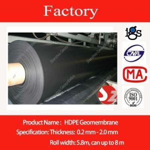 Widest Waterproof HDPE Geomembrane with ISO Certificate