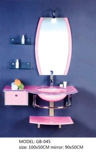 Bathroom Glass Wash Basin with Mirror pictures & photos