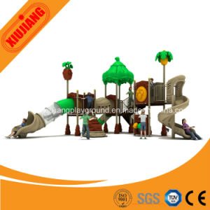 Kids Cute Outdoor Entertainment Play Set with Long Slide pictures & photos