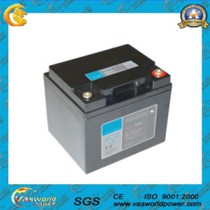 12V 38ah CE Approval Rechargeable Solar Battery (12-38) pictures & photos