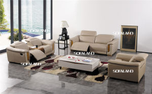 Modern Living Room Furniture Leather Sofa Set (422) pictures & photos