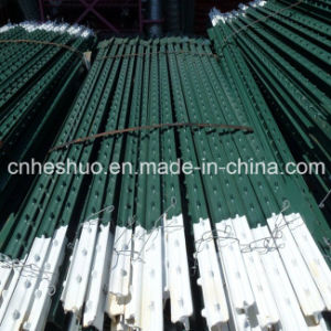 ISO Heavy Duty 1.33lb/FT Green or Red Steel Metal T Bar Fence Post for Vineyard Cheap pictures & photos