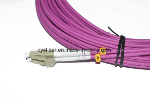 Patch Cord LC/Upc-LC/Upc Duplex Multimode Om4 Cable Fiber Optic Patch Cord pictures & photos