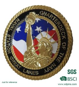 Custom Souvenir Gold Coin with BSCI Certificate pictures & photos