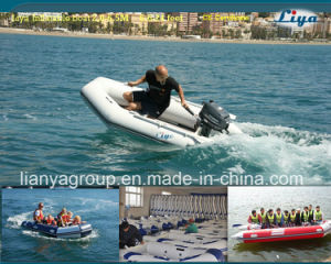 Liya 2-8meter China PVC Inflatable Boat with Outboard Motor pictures & photos