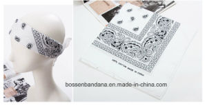 Factory Produce Paisley Printing White Cotton Premium Bandannas pictures & photos