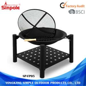 Charcoal Burning Metal Ceramic Fire Pit with Four Legs pictures & photos