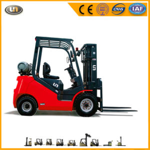 Small 1.5 Ton 1500kg Gasoline LPG Gas Dual Fuel Nissan Engine Forklift Truck pictures & photos