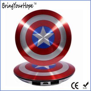 Captain America Shield Super Heros Design Power Bank 6000mAh (XH-PB-140) pictures & photos