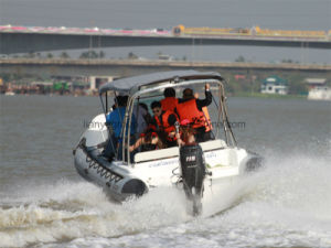 Liya Best Center Console Boats 6.6m Rigid Inflatable Fiberglass Rescue Boat pictures & photos