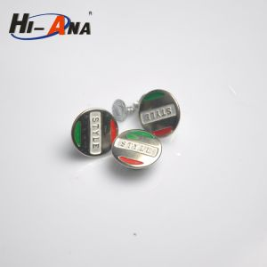Made with Important Materials Various Colors Denim Jeans Button pictures & photos