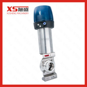 Stainless Steel Sanitary Hygienic Pneumatic Butterfly Valve with Intelligent Head pictures & photos