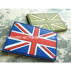 Customised PVC Rubber Patches Union Jack pictures & photos