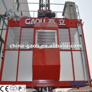 Energy Saving Two Cages Construction Building Hoists/Lift (SC200/200) pictures & photos