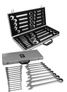 22PC Ratchet Spanner with Silver Strong Case (Tool Set; Tool Kit; Hand Tool Set)