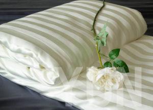 100% Handmade Silk Quilt With Stripe Silk Cover (SKM004)