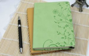 Leather Cover Agenda with Back Pocket Notebook with Pen pictures & photos
