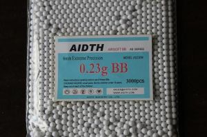 Airsoft Bb Bullet 6mm 0.23G White Color